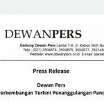 Hari ini, Dewan Pers Keluarkan Pernyataan Soal Perkembangan Penanggulangan Covid 19