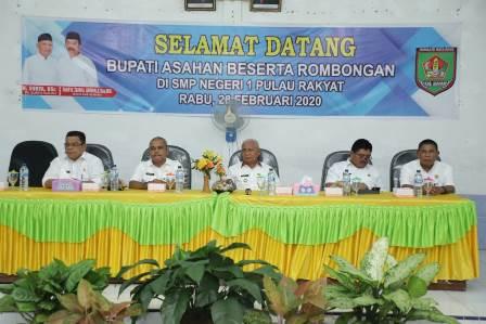 Pemkab Asahan Kunker Ke SMP Negeri 1 Pulau Rakyat