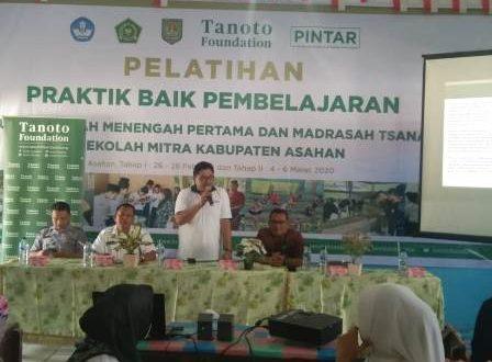 Kadisdik Asahan Buka Pelatihan yang digelar Tanoto Foundation