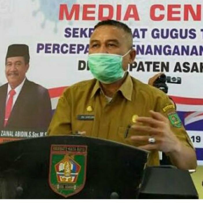 Juru Bicara Gugus Tugas Percepatan Penanganan Covid – 19 Kabupaten Asahan H. Rahmat Hidayat Siregar S. Sos. M. Si