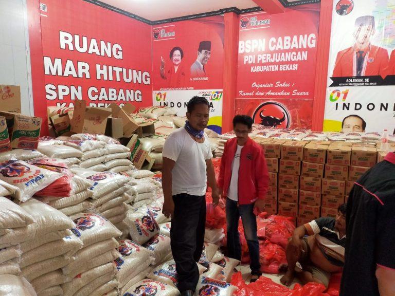 Lagi, PDI Perjuangan Kabupaten Bekasi Bagikan Ribuan Paket Sembako
