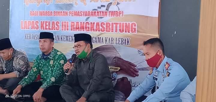 Gandeng Lapas Rangkaabitung, Kemenag Lebak Gelar Pelatihan Kaligrafi