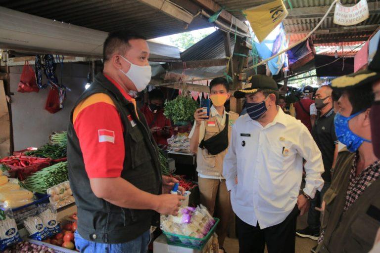 Wakil Wali Kota Bekasi Tri Adhianto Tinjau Pasar Rawalumbu