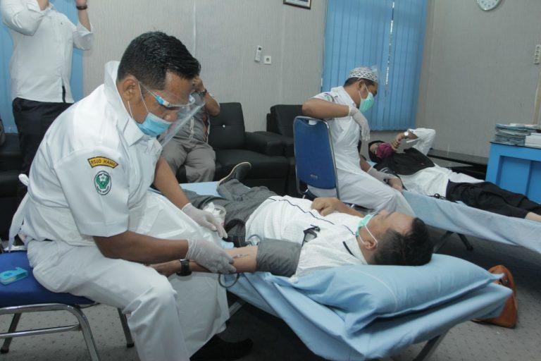 Sambut HUT Kemerdekaan RI Dinas Kominfo Asahan Bekerjasama Dengan Insan Pers Gelar Donor Darah