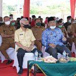 Bupati Asahan Lakukan Peletakan Plank Gedung Purna Bakti PNS Kabupaten Asahan