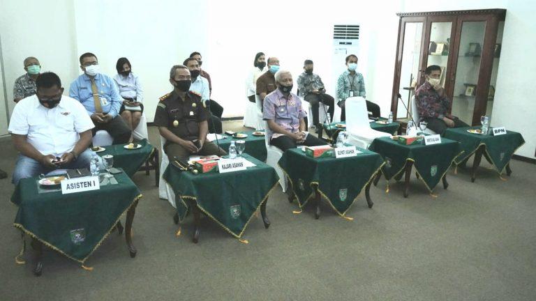 Pemerintah Kabupaten Asahan VidCon Dengan Gubsu