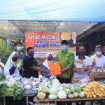 Pasar Noceng Terapakn Antrian Sosial Distancying