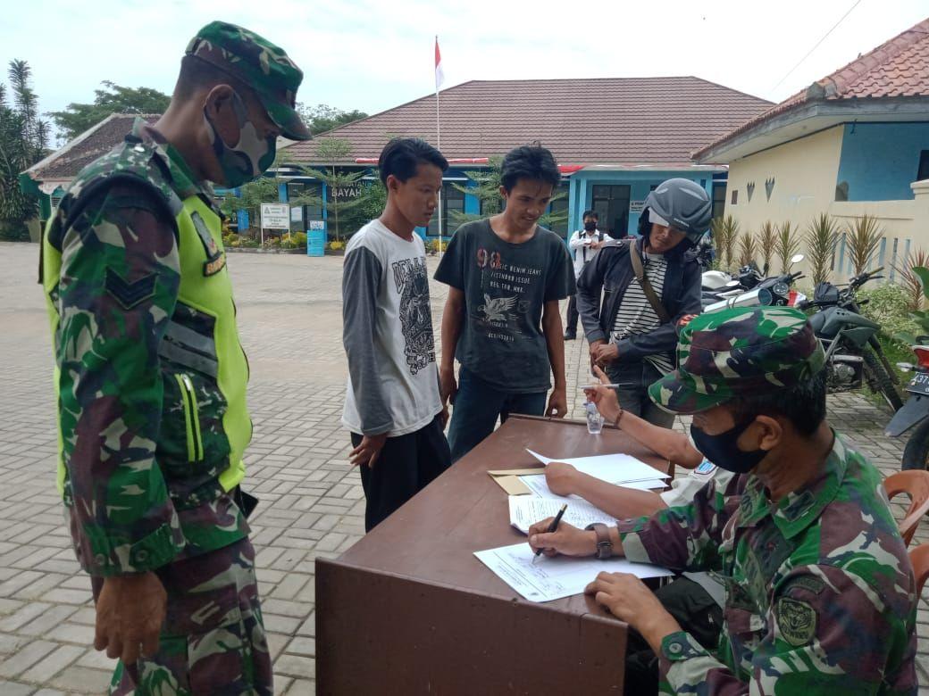 Muspika kecamatan Bayah lakukan Uji Coba Operasi pemberlakuan Perbup No. 28 Tahun 2020 Tahap ll