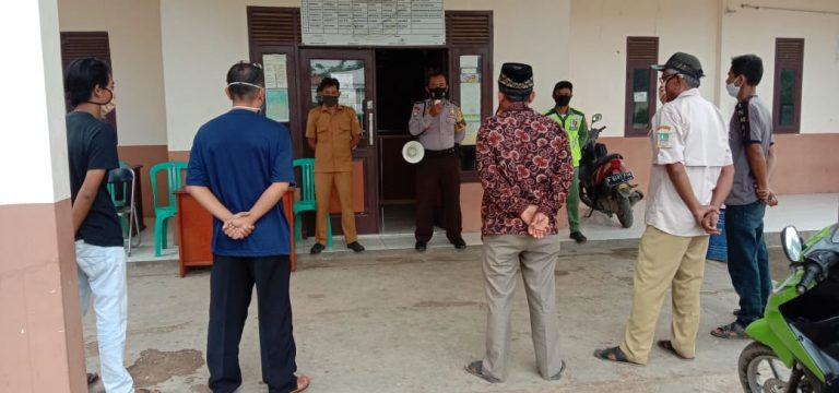 Jelang Pilkades Petugas Lakukan Woro - Woro Dan Himbauan Prokes